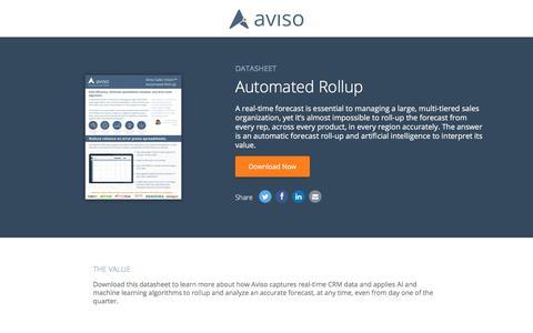 Automated Rollup   Aviso