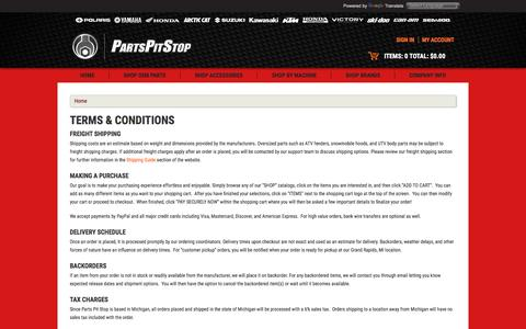 Screenshot of Terms Page partspitstop.com - TERMS & CONDITIONS - captured Dec. 7, 2015