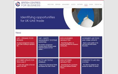 Screenshot of Press Page bcbuae.com - BCB - British Centres for Business - captured Nov. 23, 2016