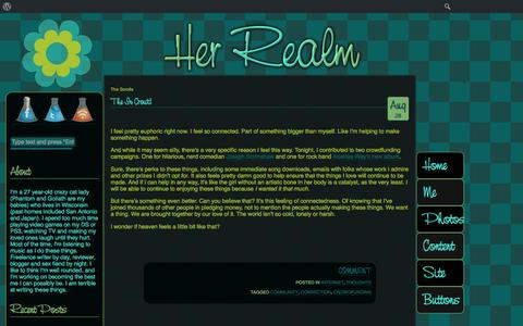 Screenshot of Home Page 7and1.net - The Scrolls - Your Daily Proclamation at Her RealmThe Scrolls   Your Daily Proclamation at Her Realm - captured Aug. 31, 2015