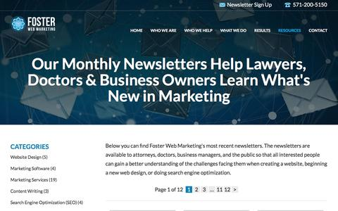 Newsletters on Website Design, SEO and Marketing | Foster Web Marketing
