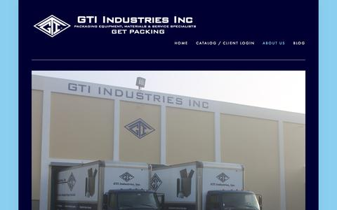 Screenshot of About Page gtiindustries.com - About Us — GTI Industries Inc - captured Oct. 22, 2014