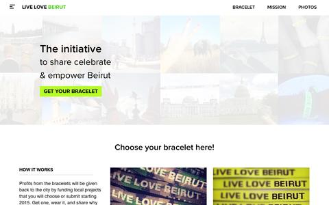 Screenshot of Home Page livelovebeirut.com - Live Love Beirut - captured Jan. 21, 2015