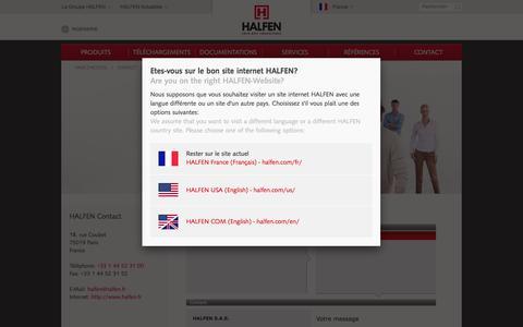 Screenshot of Contact Page halfen.com - HALFEN - HALFEN Contact - CONTACT - captured Feb. 19, 2018