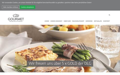 Screenshot of Home Page gourmet.at - GOURMET - Wir machen Gutes besser! - captured Sept. 29, 2018