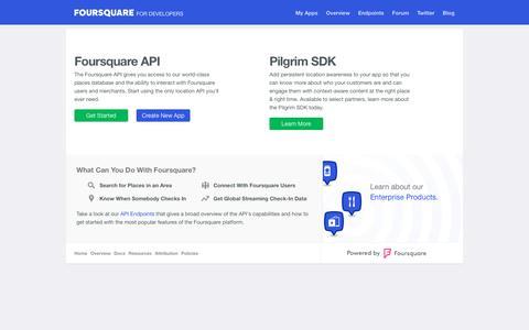 foursquare for Developers