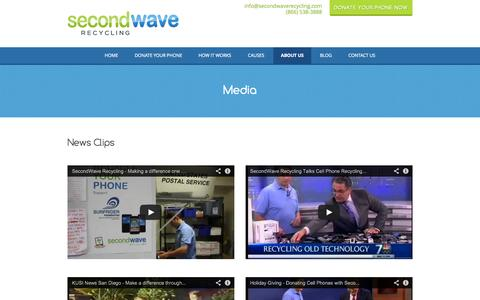 Screenshot of Press Page secondwaverecycling.com - SecondWave Recycling reviews news, interviews and press - captured Sept. 30, 2014