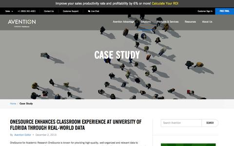 Screenshot of Case Studies Page avention.com - Business Case Studies   Avention - captured Oct. 10, 2014