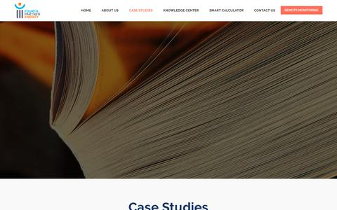 Screenshot of Case Studies Page fourthpartner.co - Fourth Partner Energy - captured Oct. 11, 2018