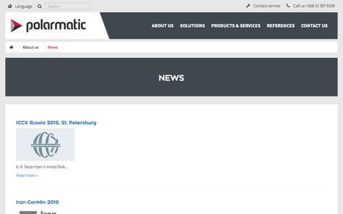 Screenshot of Press Page polarmatic.fi - News | Polarmatic - captured Nov. 8, 2016