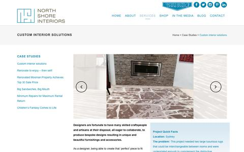 Screenshot of Case Studies Page nsinteriors.com.au - Custom interior solutions - captured Oct. 22, 2017