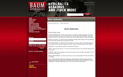 Screenshot of Terms Page baumhydraulics.com - Baum Hydraulics Corp  :: Baum Hydraulics - captured Jan. 27, 2018