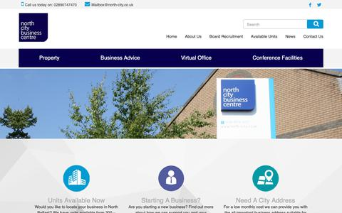 Screenshot of Home Page north-city.co.uk - North City Business Centre - North City - captured Oct. 19, 2018