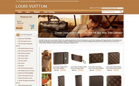 Screenshot of Home Page utuk.co.uk - Louis Vuitton Bags & Handbags UK Sale Online Shop,The Surprise Discount Price,Free Delivery - captured Oct. 8, 2014
