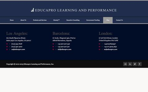 Screenshot of Blog educapro.com - Educapro  » Blog - captured Sept. 29, 2014