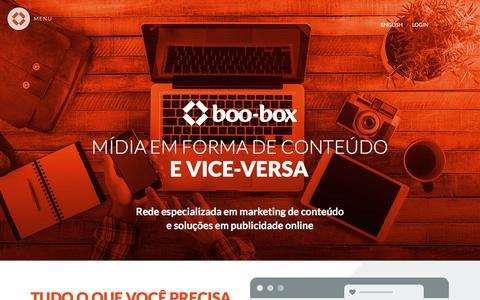Screenshot of Home Page boo-box.com - boo-box - Anuncie na internet - captured Nov. 11, 2015
