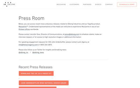 Press - Oblong Industries