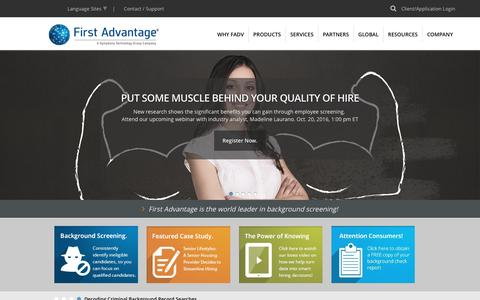 First Advantage | Background Screening and Employment Solutions > Home
