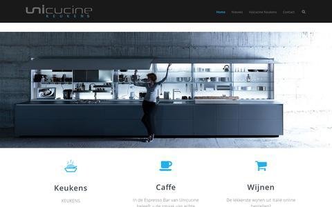 Screenshot of Home Page unicucine.nl - Unicucine | Valcucine Keukens Amsterdam - captured Feb. 13, 2016