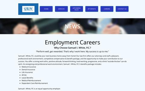 Screenshot of Jobs Page siwpc.net - CAREERS - captured Oct. 5, 2017