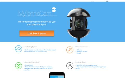 Screenshot of Home Page mytenniscam.com - MyTennisCam - captured Sept. 30, 2014