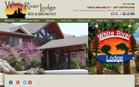 Screenshot of Contact Page Maps & Directions Page whiteriverlodgebb.com - Vacation at Our Bed and Breakfast on Table Rock Lake - captured June 21, 2016