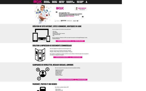 Screenshot of Home Page idclic.com - IDclic, WebStudio- CrŽation et refonte de site internet et boutique en ligne. - captured Dec. 19, 2015