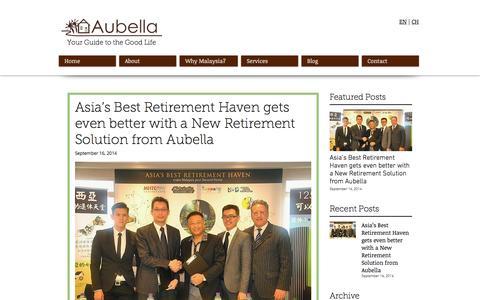 Screenshot of Blog aubella.com - Aubella   Malaysia My Second Home Agent   Blog - captured Nov. 21, 2016