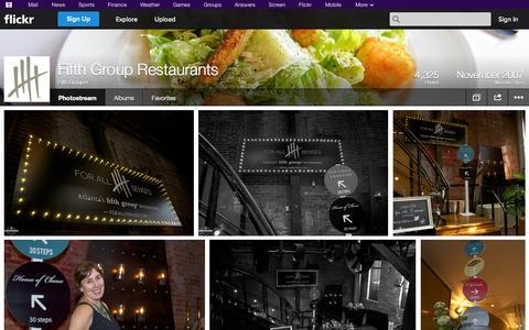 Screenshot of Flickr Page flickr.com - Flickr: Fifth Grouper's Photostream - captured Oct. 23, 2014