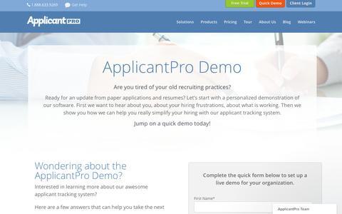 ApplicantPro Demo - ApplicantPro
