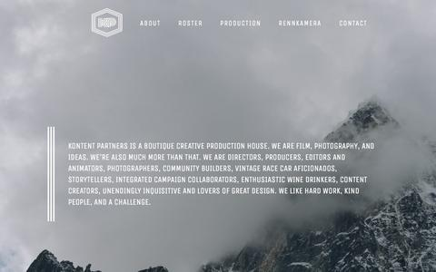 Screenshot of About Page kontentpartners.com - About – Kontent Partners - captured Sept. 20, 2018