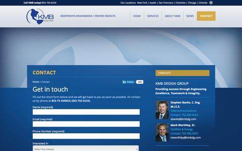 Screenshot of Contact Page kmbdg.com - Contact KMB Design Group : KMB Design Group - captured Oct. 16, 2017