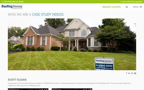 Screenshot of Case Studies Page roofingannex.com - Case Study Videos | Roofing Annex - captured Sept. 26, 2014