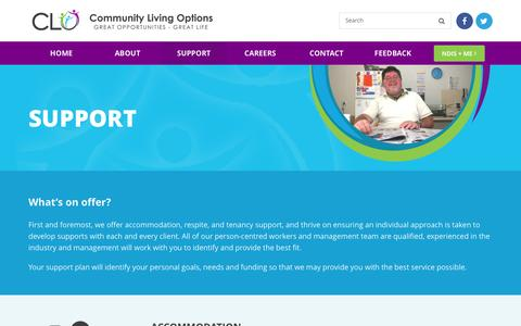 Screenshot of Support Page clo.org.au - Support – CLO - captured Nov. 10, 2016