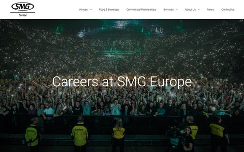 Screenshot of Jobs Page smg-europe.com - Careers at SMG Europe - SMG Europe - captured Nov. 5, 2018