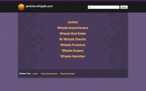 Screenshot of Home Page jenkins-whipple.com - Jenkins-whipple.com - captured Oct. 16, 2017