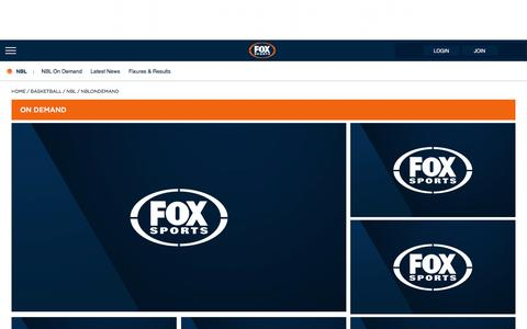 NBL Live | Fox Sports On Demand | FOX SPORTS