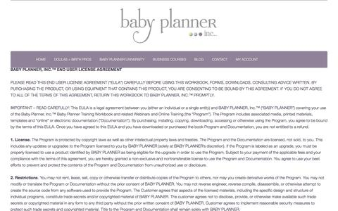 Screenshot of Terms Page babyplannerinc.com - Terms of Service | Baby Planner, Inc.™ - captured Feb. 16, 2016