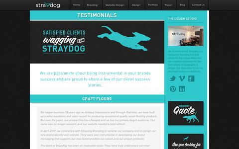 Screenshot of Testimonials Page straydogbranding.com - Client Success Stories   Straydog Branding and Web Design Testimonials – Straydog Branding Vancouver - captured Sept. 21, 2018