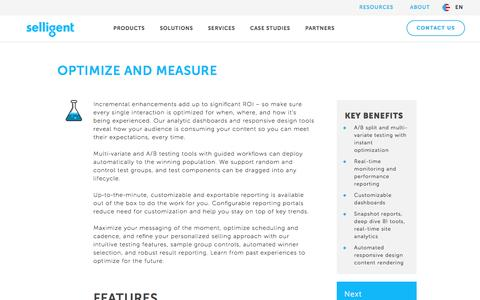 Optimize and Measure | Selligent