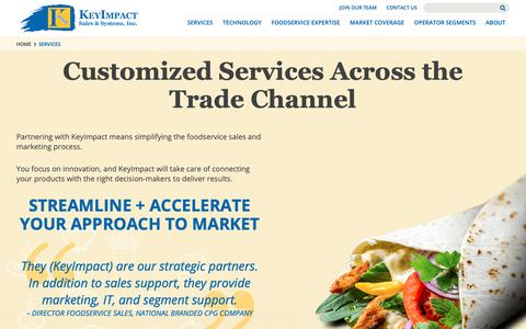 Screenshot of Services Page kisales.com - Foodservice Agency | KeyImpact Sales & Systems - captured Oct. 10, 2018