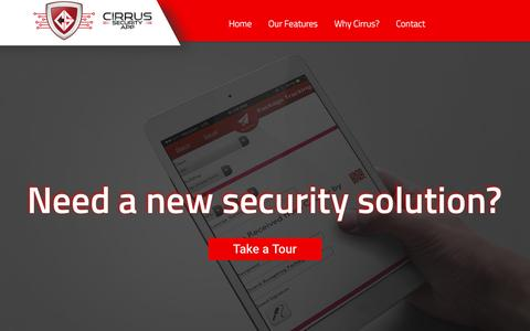 Screenshot of Home Page cirrussecurityapp.com - Cirrus Security App | Security Apps - captured May 17, 2017