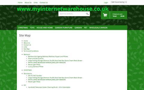Screenshot of Site Map Page myinternetwarehouse.co.uk - Sitemap - captured Jan. 12, 2016