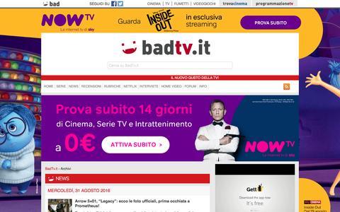 Screenshot of Press Page badtv.it - News News - BadTv.it - captured Sept. 1, 2016