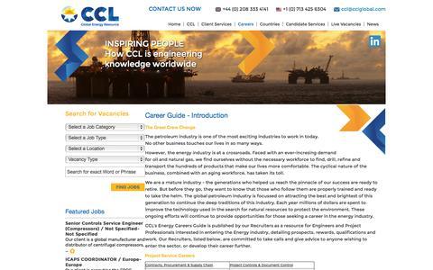 Screenshot of Jobs Page cclglobal.com - Career Guide - Introduction - captured Nov. 2, 2014
