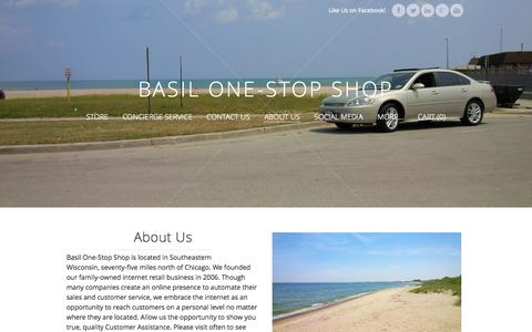 Screenshot of About Page basilonestopshop.com - About Us - Basil One-Stop Shop - captured Oct. 5, 2014