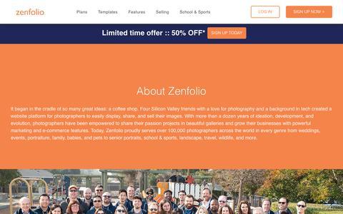 Screenshot of About Page zenfolio.com - Zenfolio   About Us - captured Oct. 30, 2019