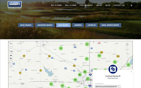 Screenshot of Maps & Directions Page plazare.com - Map of Homes for Sale   Coldwell Banker Plaza Real Estate - captured Sept. 28, 2018