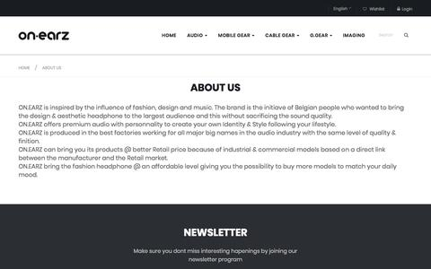 Screenshot of About Page onearz.com - About us - captured Sept. 20, 2018