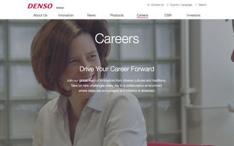 Screenshot of Jobs Page globaldenso.com - Careers | DENSO Global Website - captured June 22, 2016